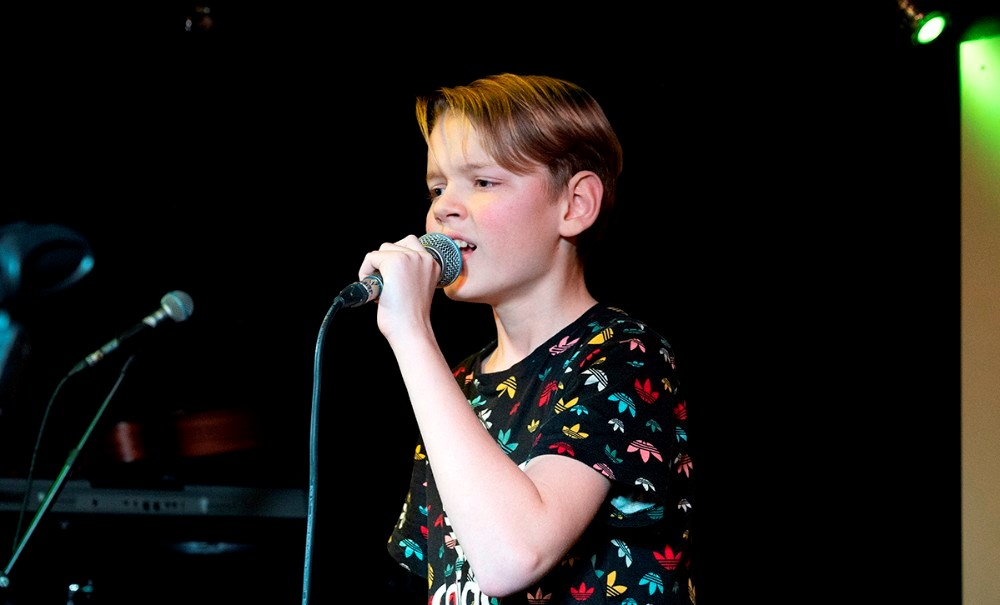 13-årige Johan Hjuler Dueholmblev vinder af 'Kalundborg har Talent 2020'. Foto: Jens Nielsen