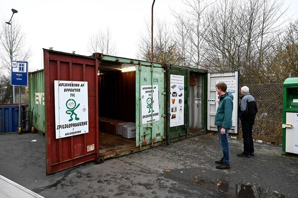 Spildopmagernes containere på genbrugssattionen på Asnæsvej bliver åbnet igen mandag d. 8. marts. Arkivfoto: Jens Nielsen