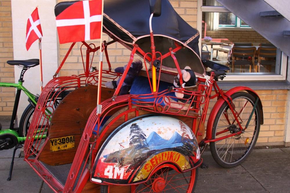 En ældre model af en rickshaw fra Asien. Foto: Gitte Korsgaard