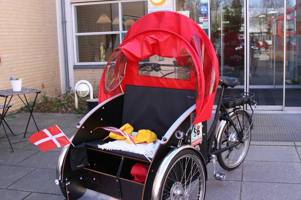 Den nye rickshaw.Foto: Gitte Korsgaard
