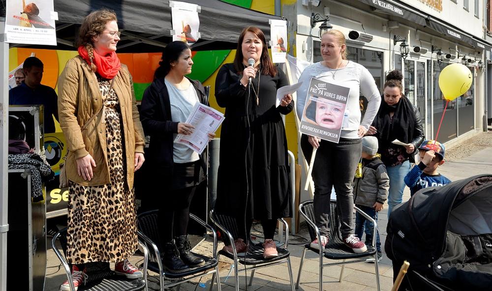 styregruppen bestående af Nanna Jørgensen, Maria Neslo Christiansen, Jeanette Hansen og Christina Jensen. Foto: Jens Nielsen