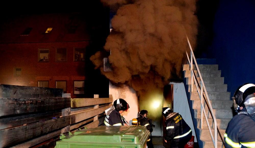 Pizza Mia blev totalt raseret ved en voldsom brand natten til søndag. Det viser sig nu at branden er påsat. Foto: Jens Nielsen