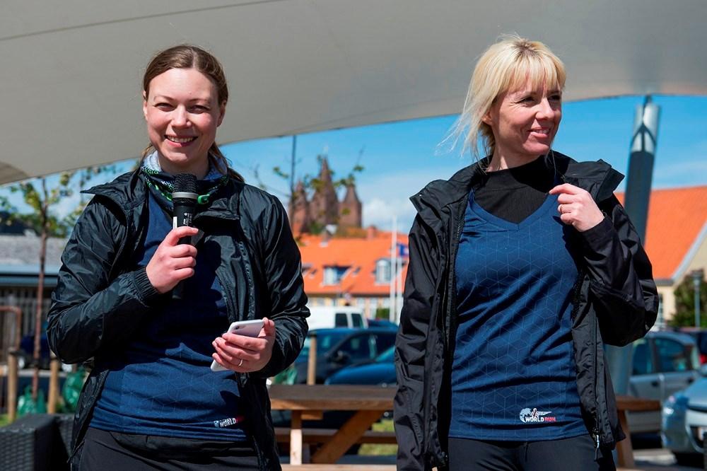 Arrangørerne af Wings For Life World Run i Kalundborg, Line Kongsted og Maria Gjedsted. Foto: Jokum Tord Larsen