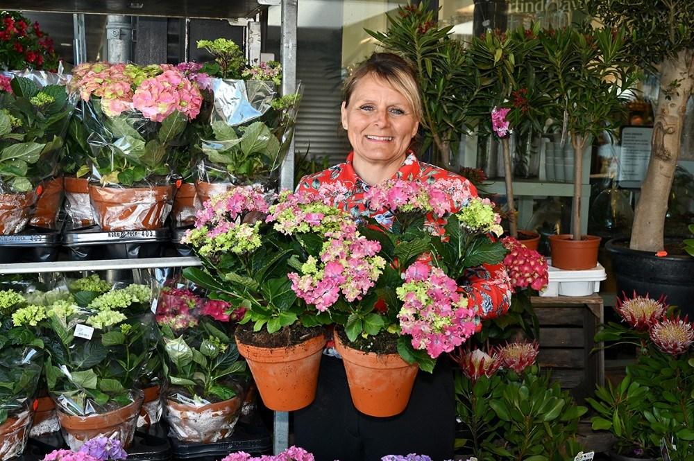 Leder af blomsterafdelingen Liss Thomsen. Foto: Jens Nielsen
