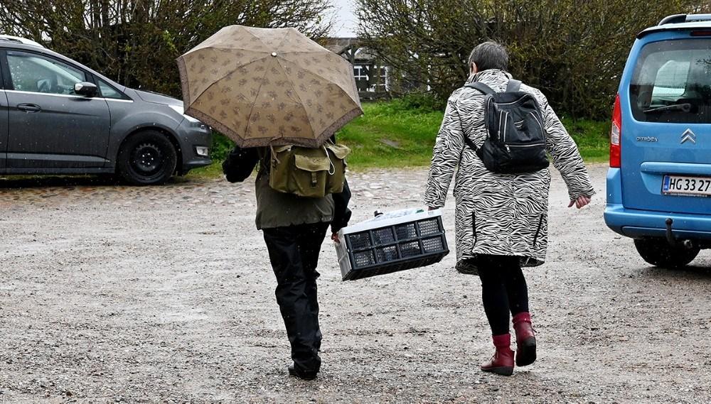 Alle tager fat og hjælper til. Foto: Jens Nielsen