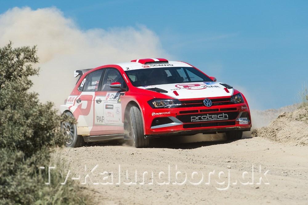 Kristian Poulsen-Ole R. Frederiksen fra Risskov i VW Polo GTI R5 blev samlet vinder af Glad Rally Kalundborg. Foto: Jokum Tord Larsen