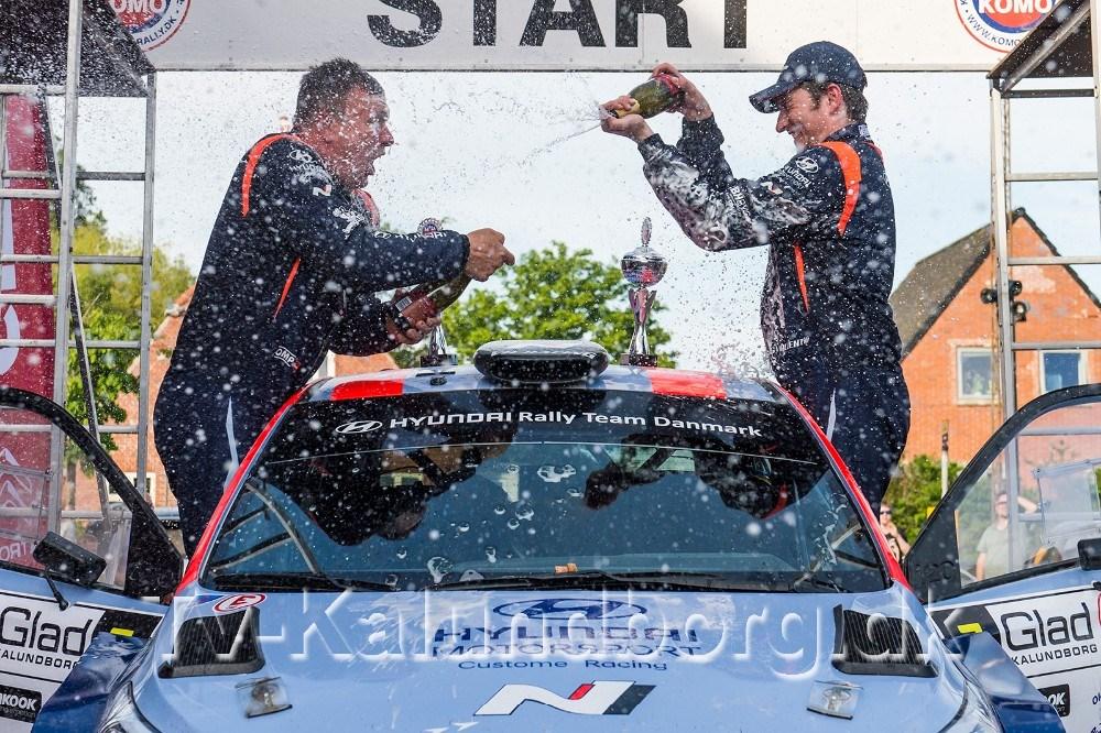 Løbets nr. 3 blev Simon Vallentin - Peter Egholm fra Gislinge i Hyundai i20 R5. Foto: Jokum Tord Larsen