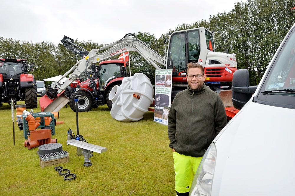 Rasmus Kæmpe fra Enghavens Entreprenør og Kloakmester vil gerne snakke nye kloaker og rottespærrer. Foto: Jens Nielsen