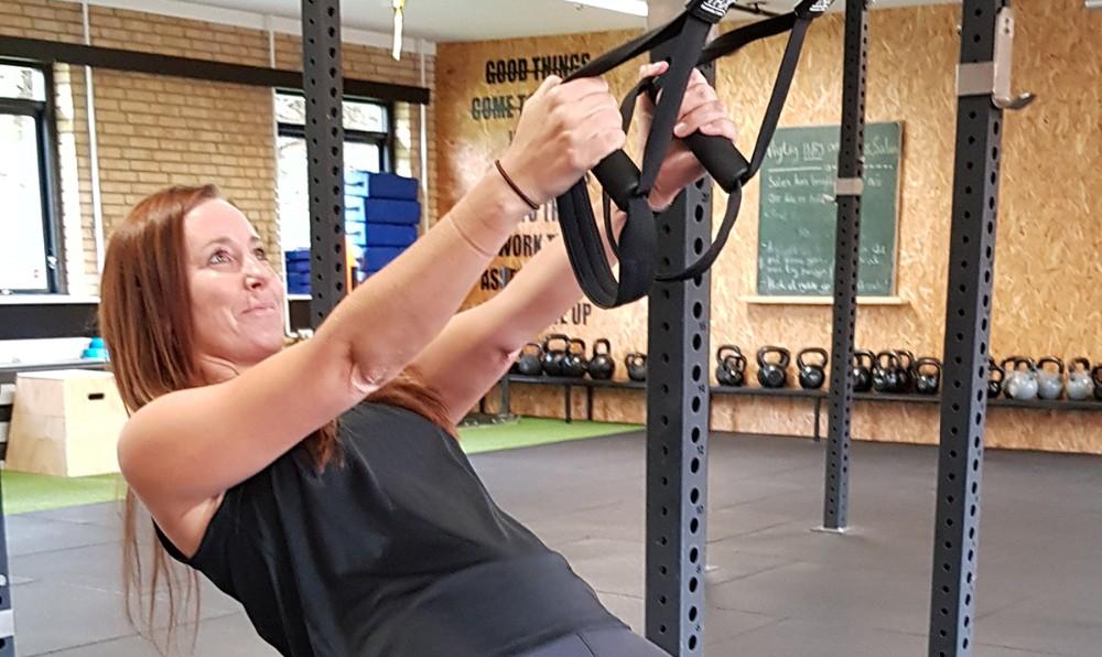 Instruktør på Familie Cross er Anja Hansen, som har en lang og bred træningserfaring og har bl.a. også en børneyoga uddannelse med sig. Privatfoto