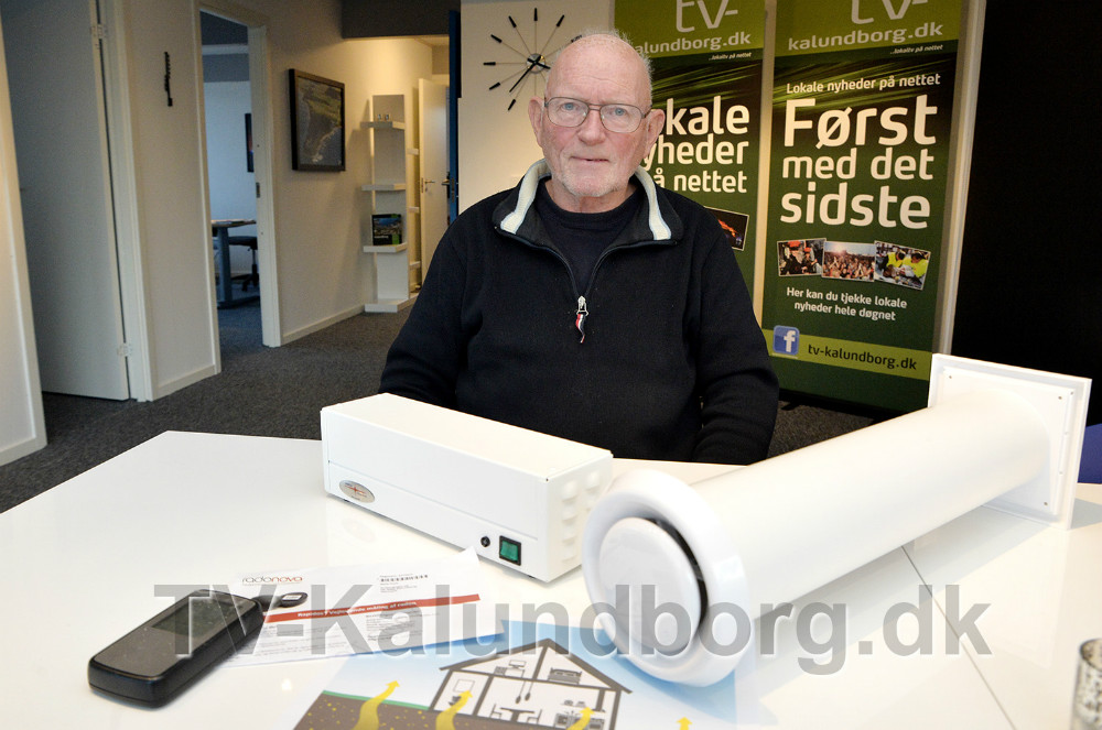 Niels Frich, indehaver af Radonfokus.dk, kan hjælpe hvis man har problemer med Radon i boligen. Foto: Jens Nielsen