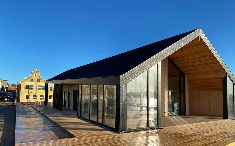 Det nye fælleshus i Kalundborg Havnepark.