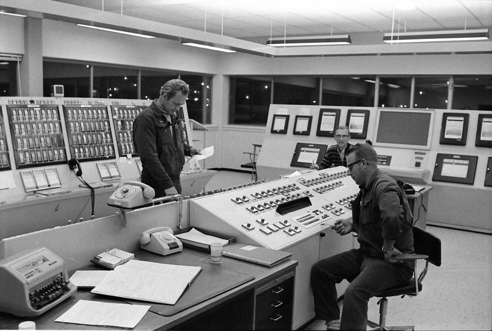 Kontrolrummet på raffinaderiet. Foto: Henry Frederiksen