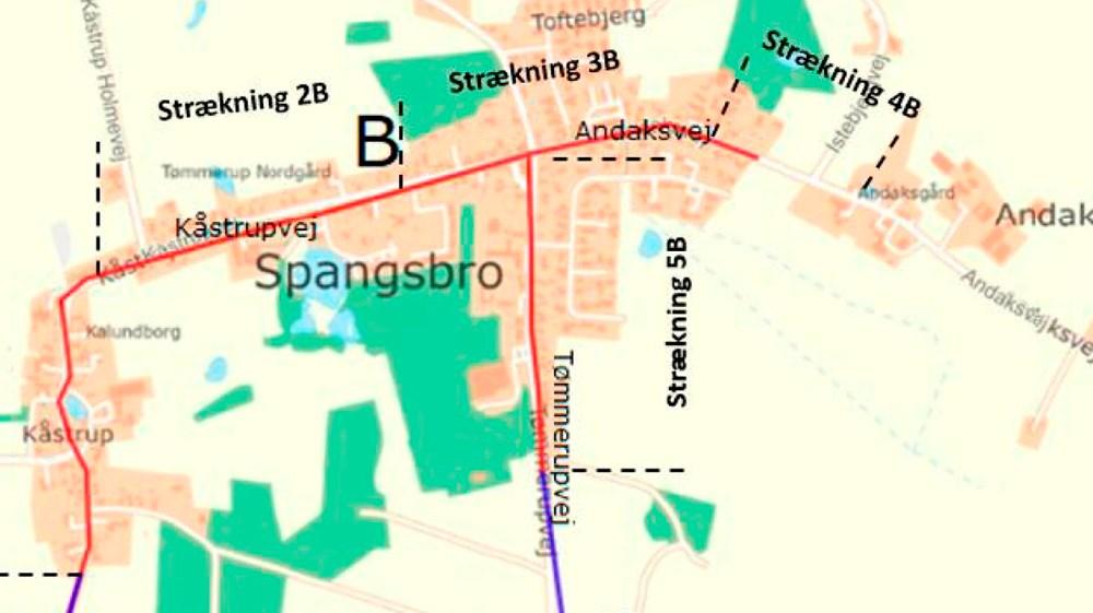 Kåstrupvej, Andaksvej og Tømmerupvej er alle trafikfarlige skoleveje.