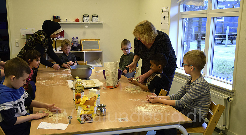 I denne uge er der emneuge på Sigrid Undset Skolen i Kalundborg, og børnene har om Danmarkshistorien. Foto: Gitte Korsgaard.