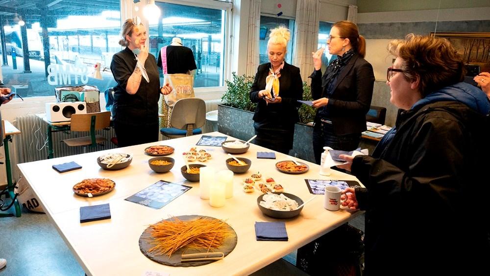 Erhvervscafé hos Symb fredag eftermiddag. Foto: Jens Nielsen