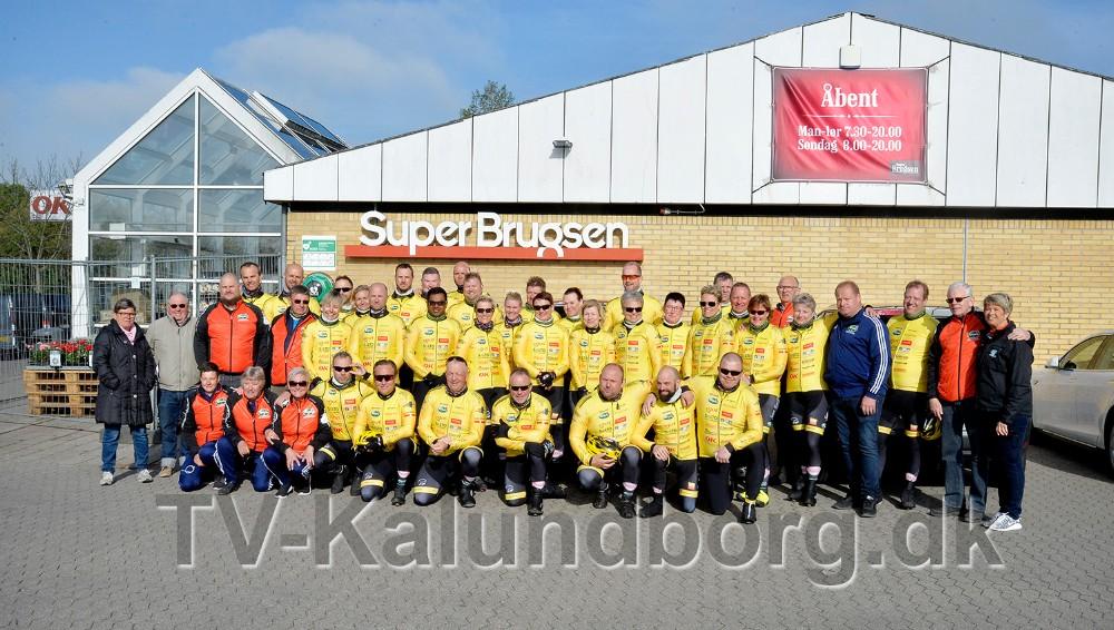 Team Rynkeby Vestsjælland samlet i Ubby i forbindelse med en af de mange træningsture. Foto: Jens Nielsen