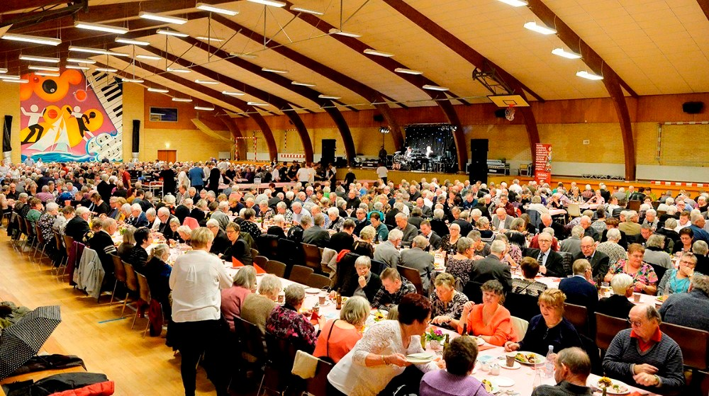 Igen bliver det i Hvidebækhallen at ældrefesten skal afholdes. Foto: Jens Nielsen