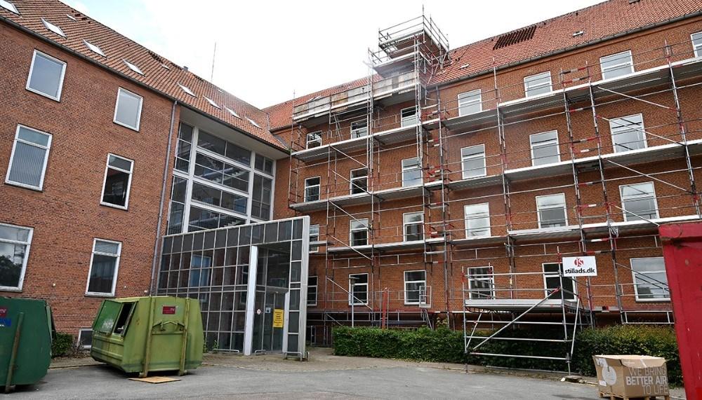 Det tidligere sygehus er næsten klar til at studerende kan flytte ind. Foto: Jens Nielsen