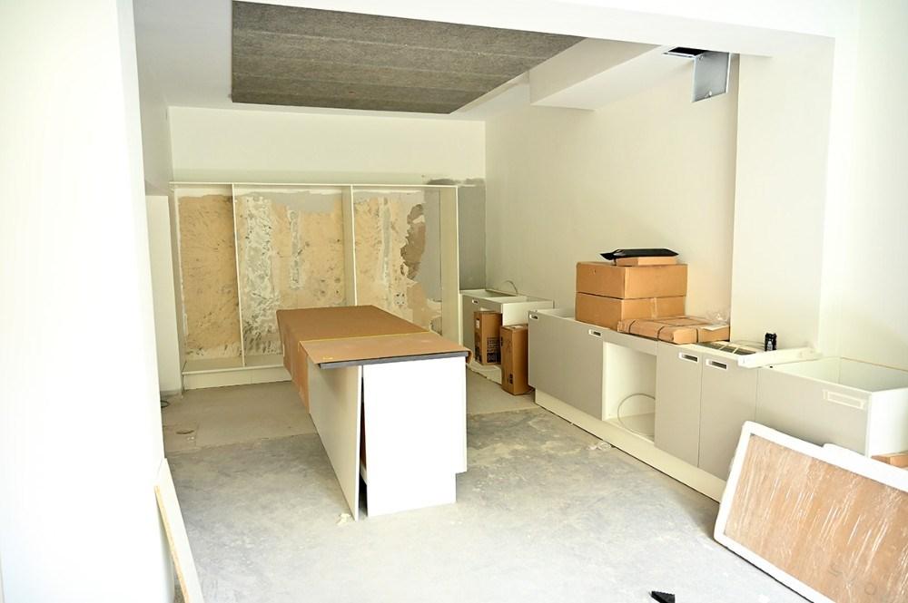 Fælleskøkkenet tager form. Foto: Jens Nielsen