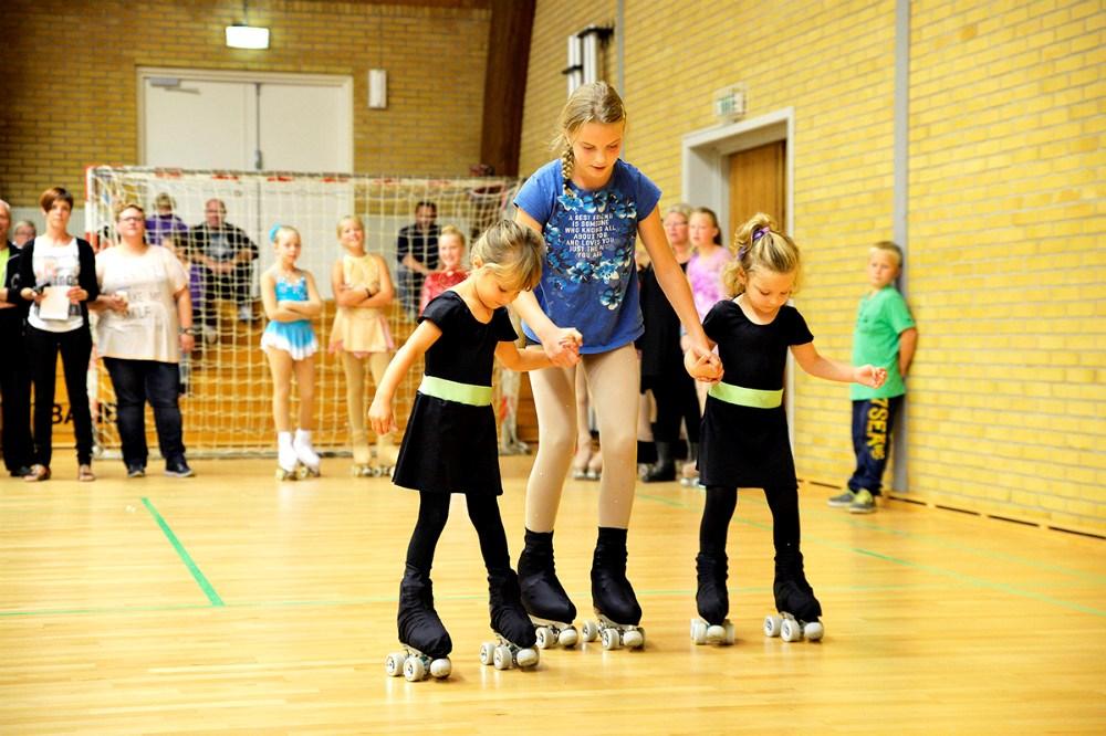 Opvisning fra Kalundborg Rulleskøjteklub. Foto Jens Nielsen