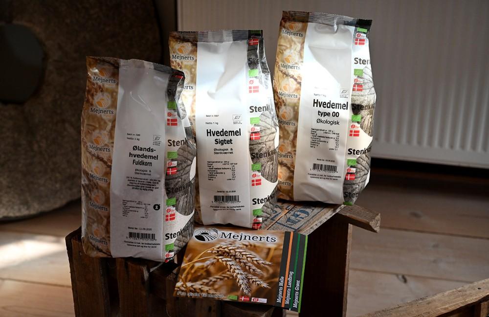 kursisterne får en goodiebag med melprodukter med hjem. Foto: Jens Nielsen