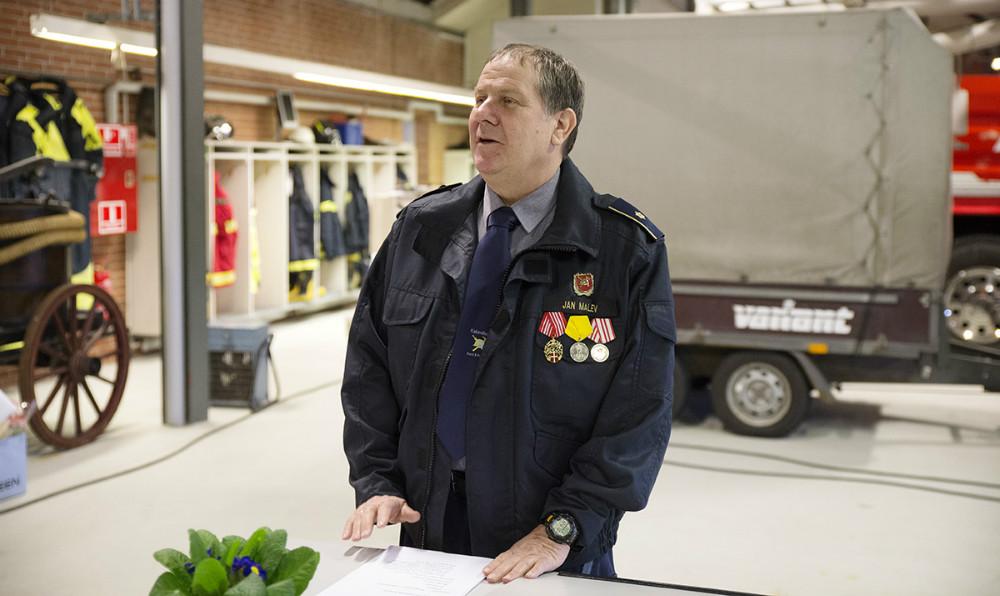 Stationsleder Jan Malev aflagde årsberetningen. Foto: Jens Nielsen