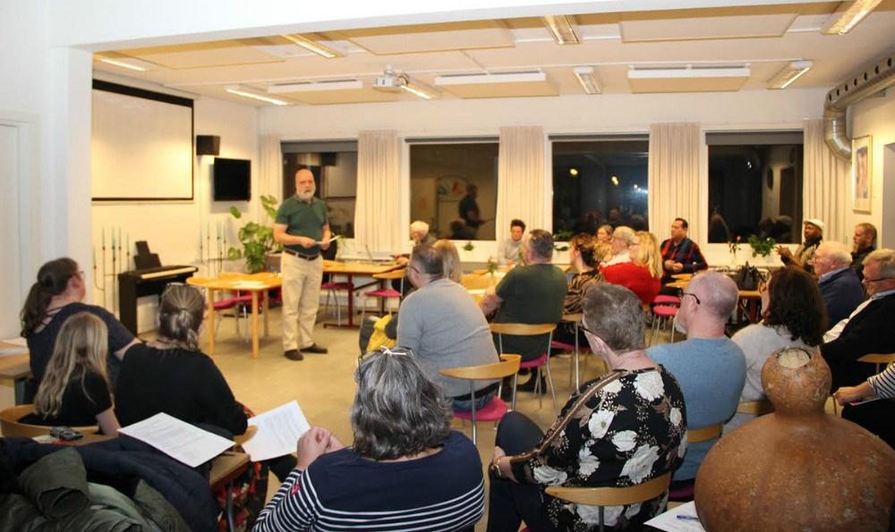 Første møde i Borgerforeningen Brage.