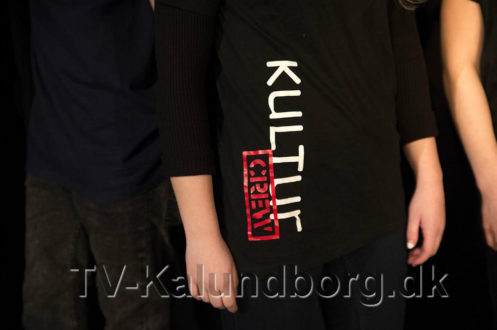 Nyrupskolens ´Kultur Crew´ er klar til at indtage scenen i Bella Centret. Foto Jens Nielsen