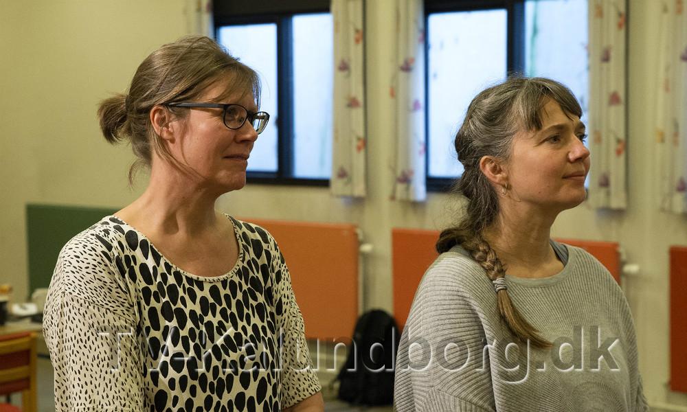Gitte Abildtrup Møller, Levende Musik i Skolen og Pernille Welent Sørensen fra Teatercentrum. Foto Jens Nielsen
