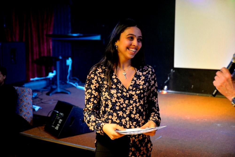 16-årige Hibeh Ajeell vandt talentkonkurrencen i Juvi. Foto: Jens Nielsen