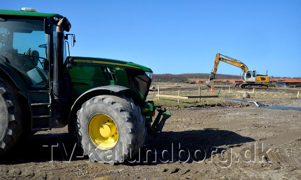 GSC Anlæg har kørt de store maskiner i stilling til opgaven. Foto: Jens Nielsen