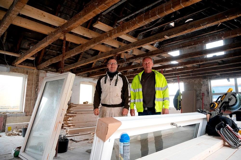 Murermester Michael Husted (tv) sammen med Michael Rasmussen.  Foto: Jens Nielsen