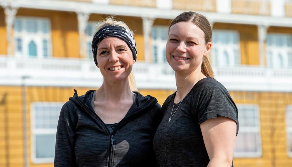 Løbeveninderne Maria Gjedsted og Line Kongsted står bag arrangementet. Foto: Jokum Tord Larsen