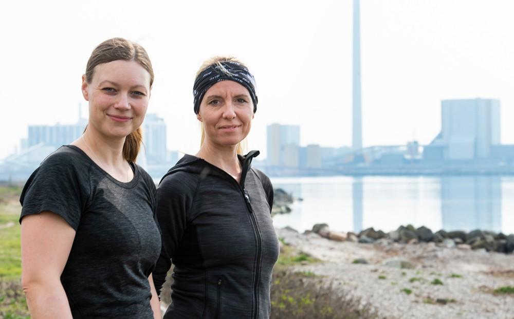 Løbeveninderne Line Kongsted og Maria Gjedsted står bag arrangementet. Foto: Jokum Tord Larsen
