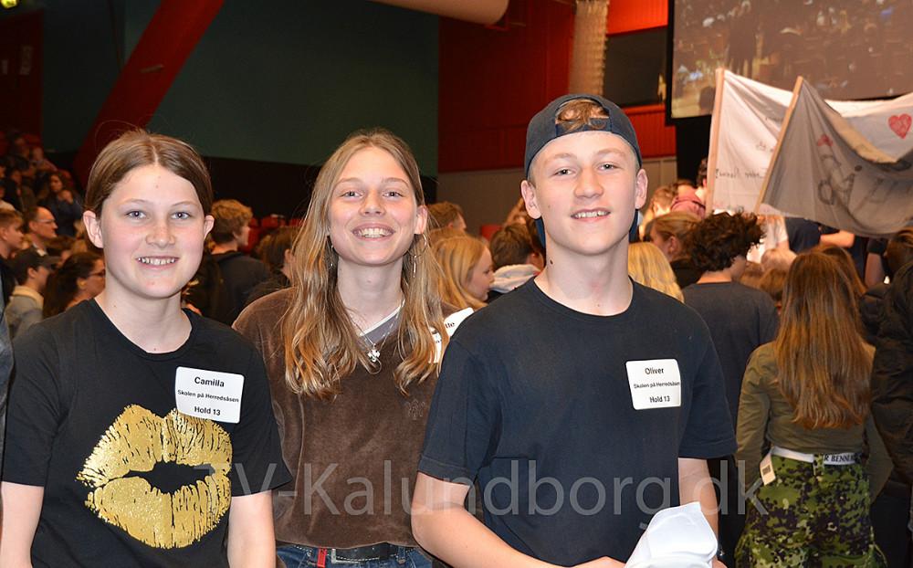 Camilla Johannesen Edling, Gitte Wagner og Oliver Alfast fra 8.C fra Skolen På Herredsåsen i Kalundborg var fredag til DM i Skills i Næstved.