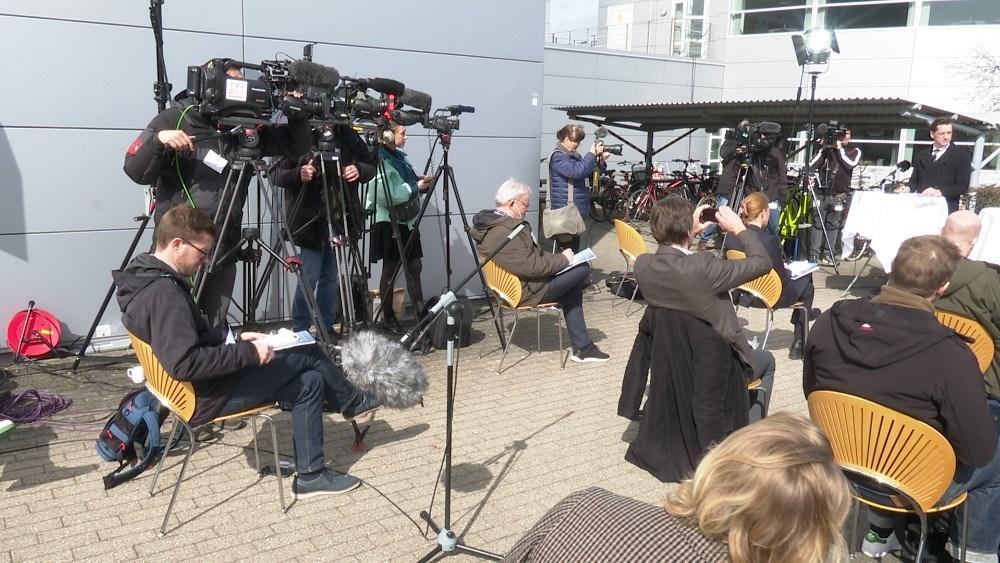 Pressemødet blev afholdt hos Novo Nordisk i Kalundborg. Foto: Jens Nielsen