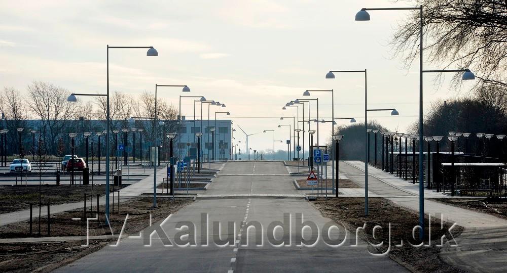 Vejen ved den nye Station Øst på Stejlhøj. Foto: Jens Nielsen