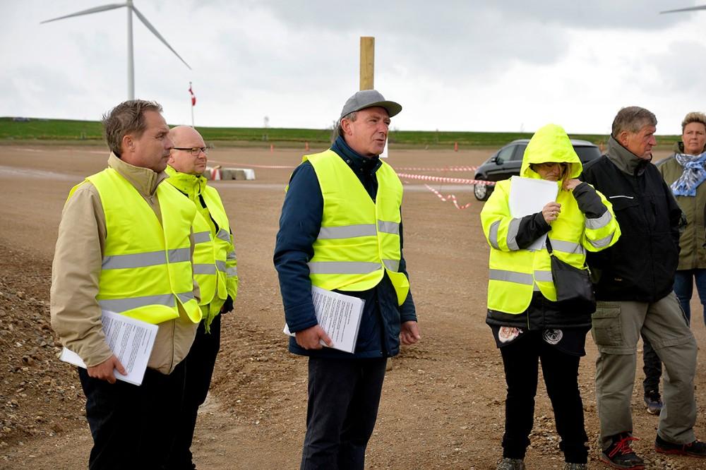 Havnedirektør Bent Rasmussen bød velkommen til de mange gæster. Foto: Jens Nielsen