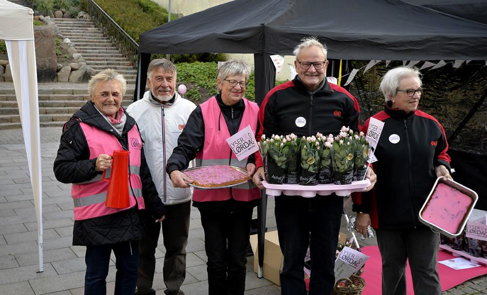 Repræsentanter fra Kræftens Bekæmpelse klar i Kordilgade. Foto: Jens Nielsen