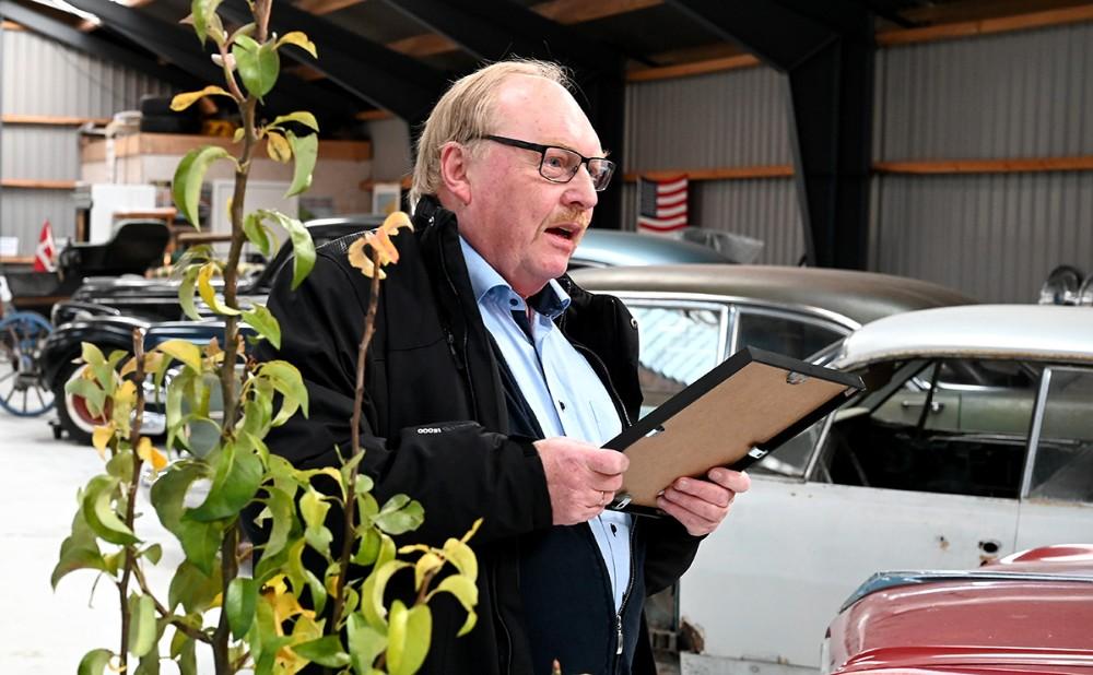 Dan Hansen, formand for Venstre i Gørlev, overrakte initiativprisen. Foto: Jens Nielsen