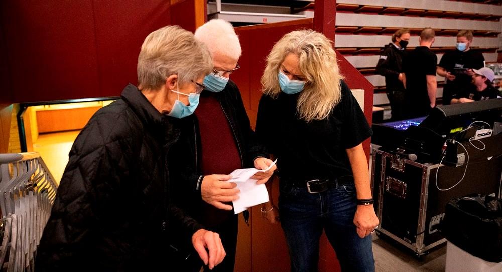Annette Sønder Nielsen tog imod gæsterne i Kalundborghallen. Foto: Jens Nielsen