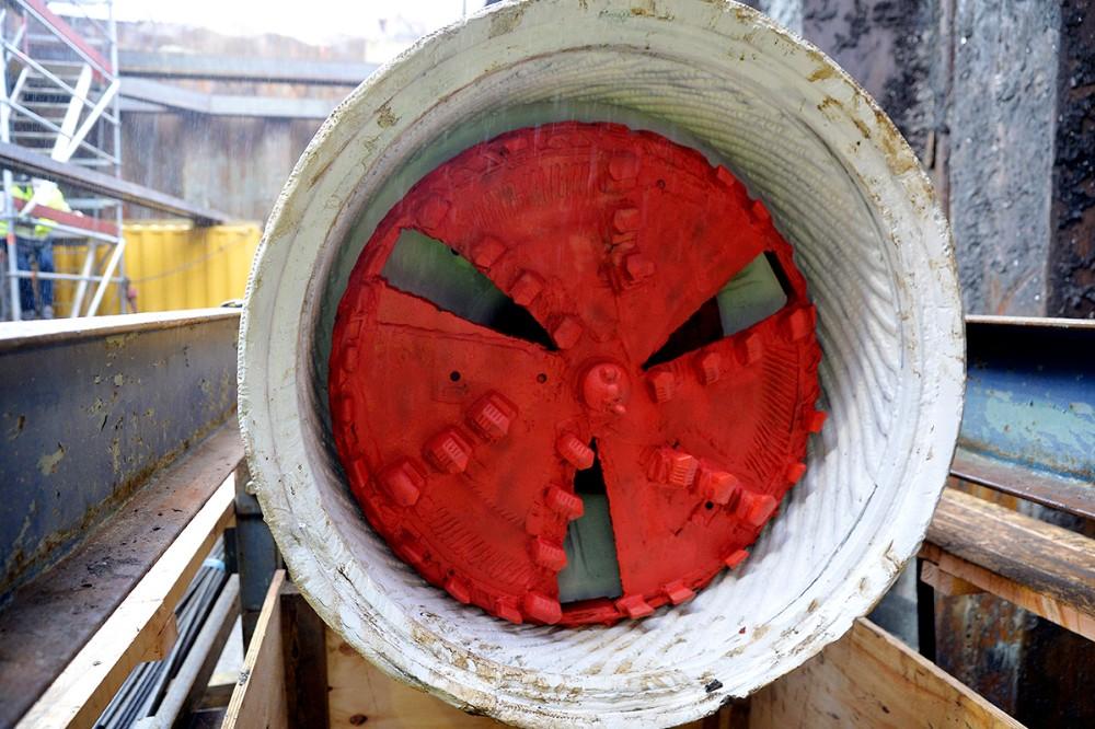 Borehovedet på den store boremaskine. Foto: Jens Nielsen