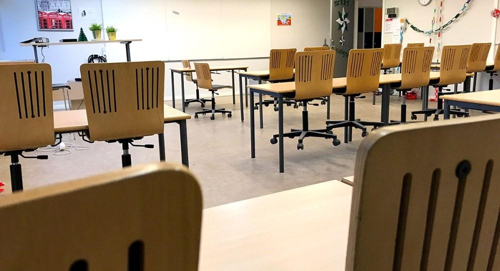 Tomme lokaler på Allikelund Gymnasium fra på onsdag den 9. december og indtil den 11. januar 2021.