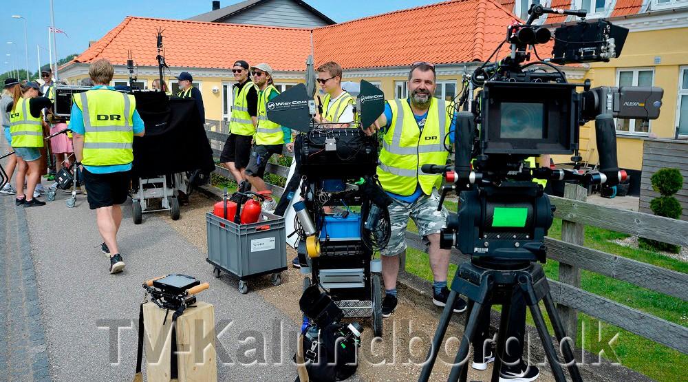 Der er tidligere lavet optagelser i Kalundborg til den nye dramaserie, og på mandag er filmholdet så tilbage i Kalundborg. Foto: Jens Nielsen