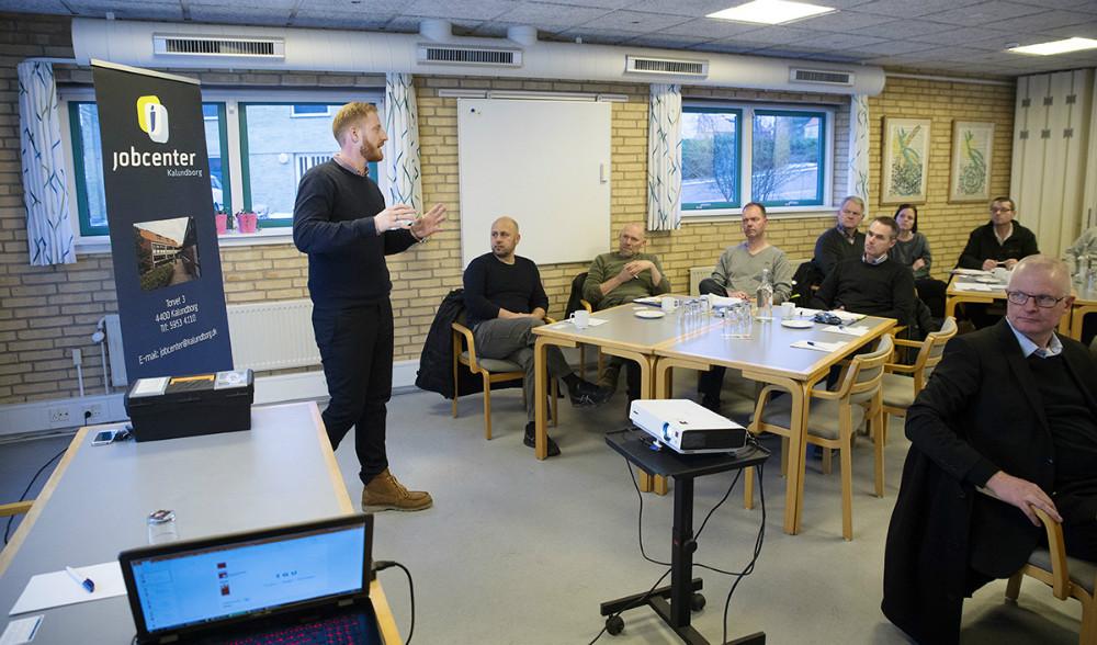 15 virksomheder var mødt op på Kalundborg Vandrerhjem for at høre om den nye IGU Uddannelse. Foto: Jens Nielsen