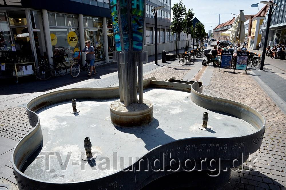 Der er heller ikke vand i springvandet. Foto: Jens Nielsen