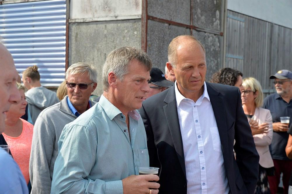Robert Bang Hansen fra Reersø Bådeklub i snak med Martin Damm. Foto Jens Nielsen