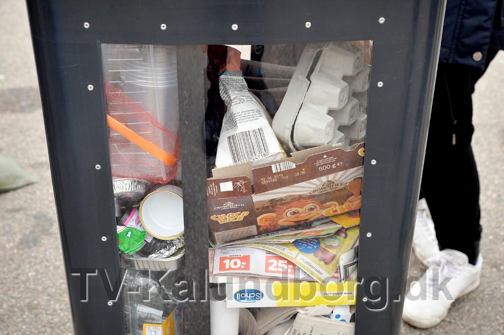 Eksempel på affald som skal sorteres i de nye beholdere. Foto: Jens Nielsen