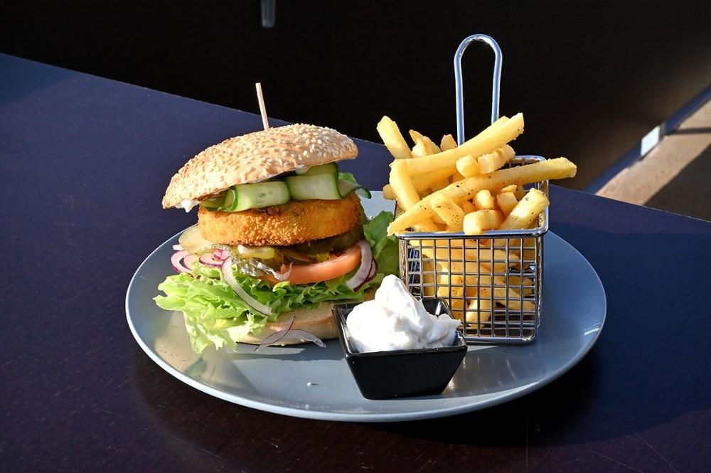 Vegetarburgeren. Foto: Jens Nielsen