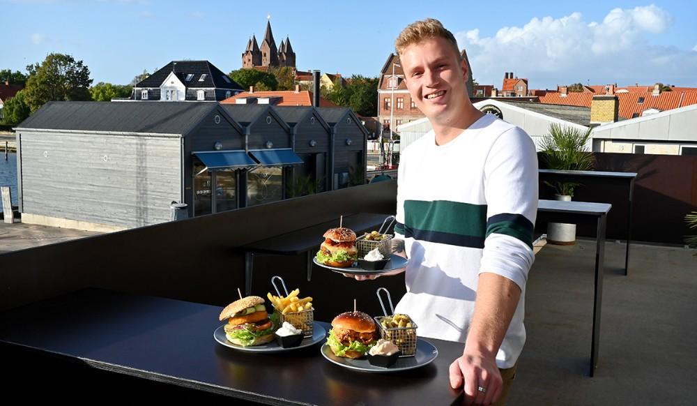 Asger Øgelund præsenterer sit nye burgerkoncept på fredag. Foto: Jens Nielsen